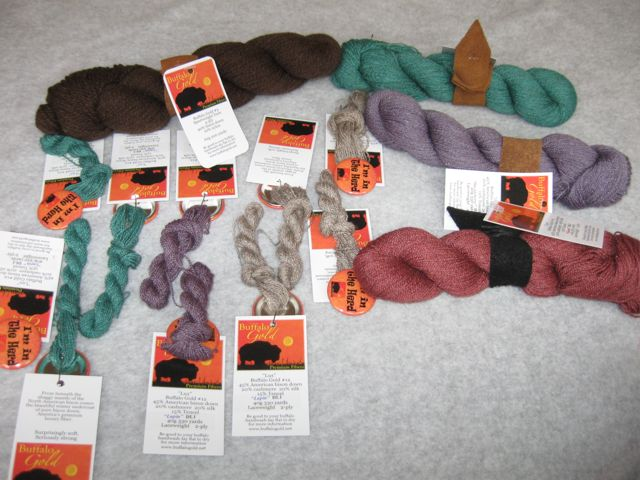 Buffalo Gold yarns and mini skeins