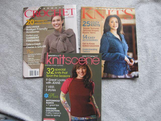 Interweave Knit, Interweave Crochet and KnitScene Magazines