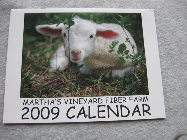 Martha\'s Vineyard Fiber Farm Calendar