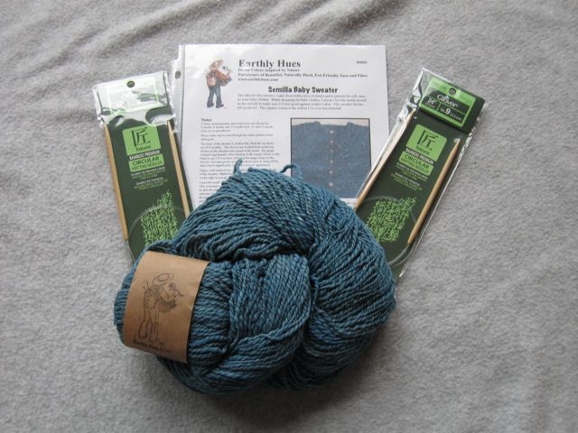 Earthly Hues hand-dyed Sweater kit